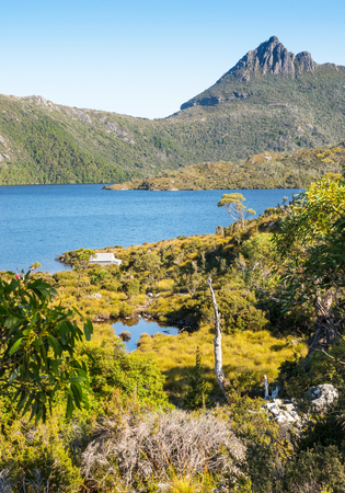 Cradle Mountain and Dove Lake in the Cradle Mountain - Lake St Clair National Park in Tasmania, Australia.