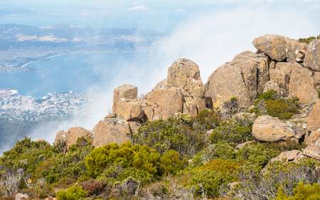 Mount Wellington is situated in the southeast coastal region of Tasmania, Australia. At the foothills of the mountain is much of Hobart, the capital city of Tasmania.