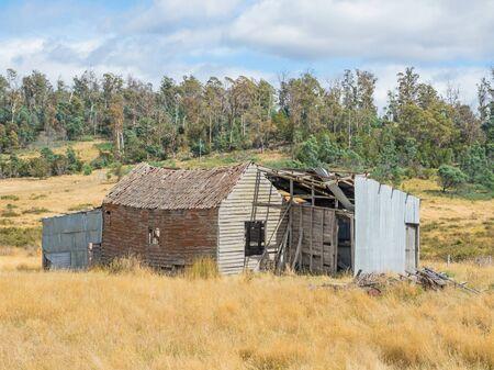 Un cottage abbandonato nella Tamar Valley in Tasmania, Australia.