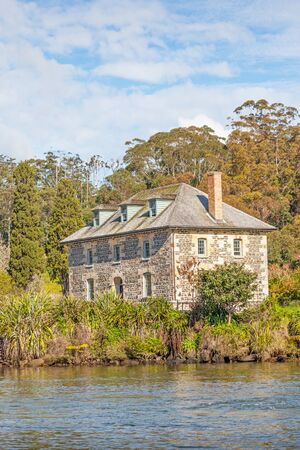 The Stone Store in the Kotorigo-Kerikeri Basin Heritage Area of North Island, New Zealand. Completed in 1836, it is the oldest stone building in New Zealand.