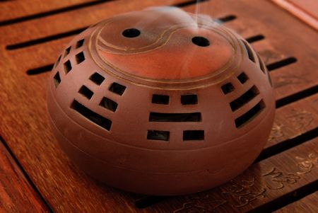 trigram: Incense burner  for aromas on  tea board