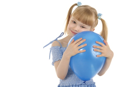 pleasantness: Little girl with colour balls