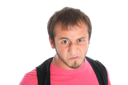 emote: Malicious young man