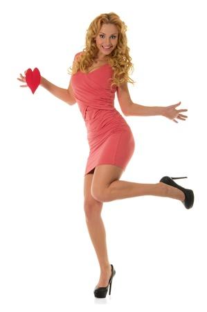 pleasantness: beautiful dancing woman with heart