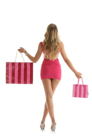 beautiful woman with shopping bags Stock Photo - 9574242