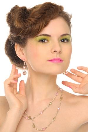 Beautiful woman with jewelry photo