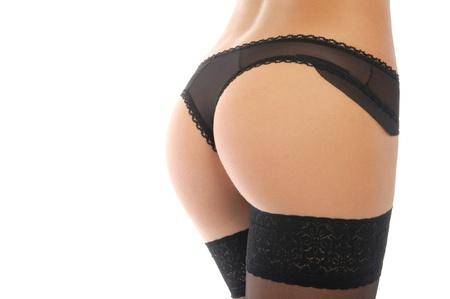 黒のパンティーでセクシーなお尻