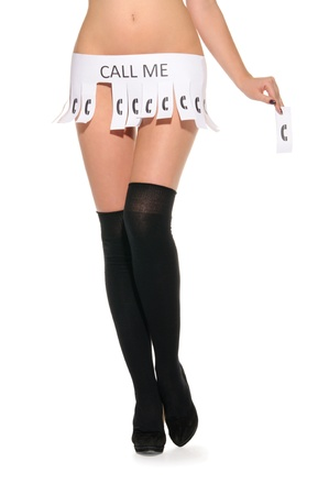 Declaration instead of skirt that says call me Stock Photo - 11008156