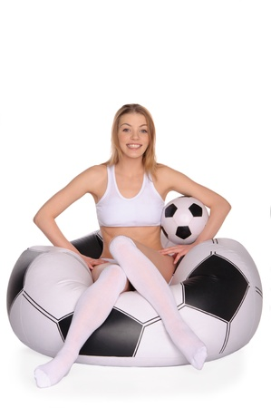 Happy football and soccer supporter Stock Photo - 12802005