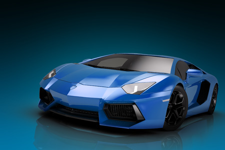 Sports car 3d render, wallpaper