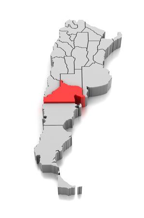 Map of Rio Negro Province, Argentina Reklamní fotografie
