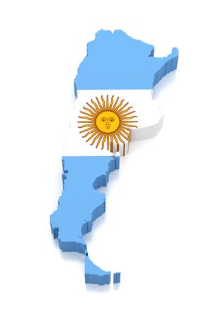 3d Map of Argentina
