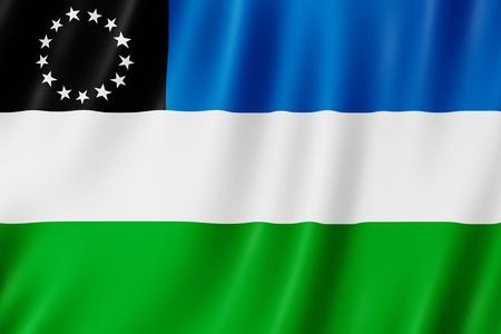 Flag of Rio Negro Province, Argentina Reklamní fotografie
