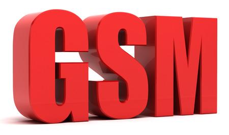 GSM 3d text Stock Photo