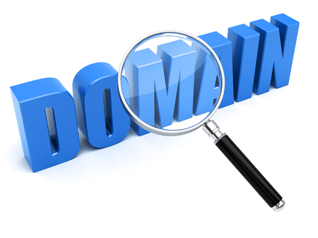Domain name search concept Banque d'images