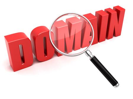 Domain name search concept Stockfoto