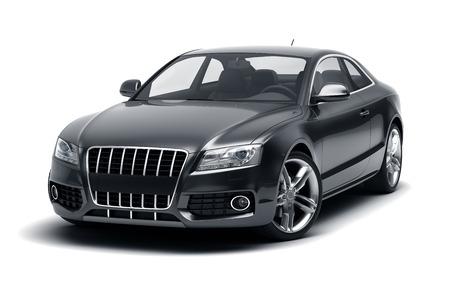 ブラックスポーツカー