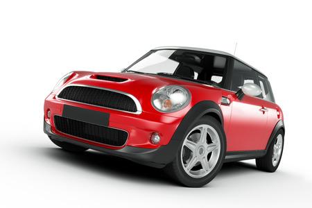 Compact red small car