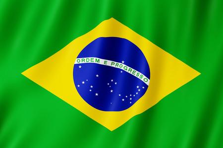 Brasilien Flagge winken