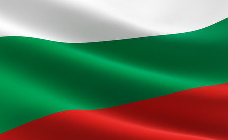 Flag of Bulgaria waving