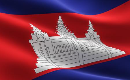 Cambodia flag waving Фото со стока