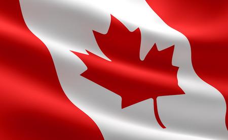 Canada flag waving Stock Photo