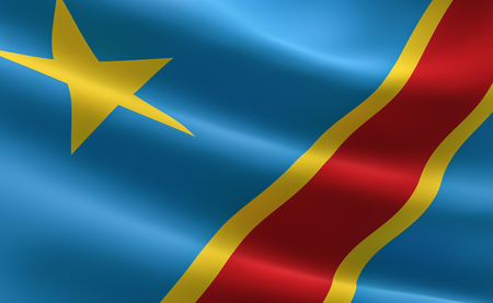Congo flag. Flag of the Democratic Republic of the Congo.