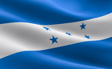 Flag of Honduras. illustration of the Honduras flag waving. Stock Photo