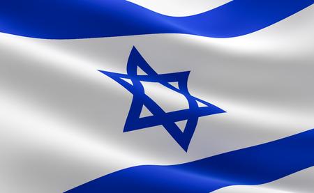 Flag of Israel. illustration of the Israeli flag waving. Stock Illustration - 95710499