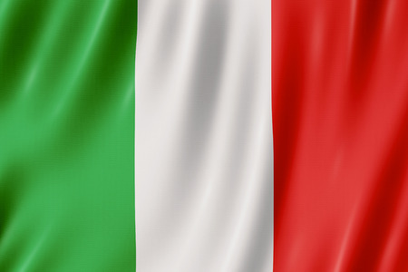 Flag of Italy. illustration of the Italian flag waving. Banque d'images