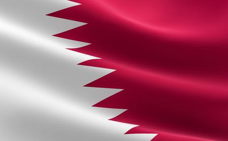 Flag of Qatar. Illustration of the Qatari flag waving.