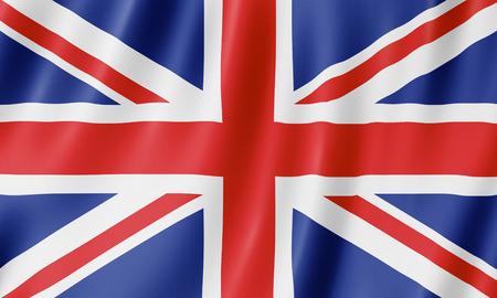 Drapeau du Royaume-Uni. Illustration du drapeau britannique britannique en agitant.