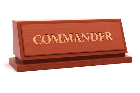 Titre du commandant sur la plaque signalétique