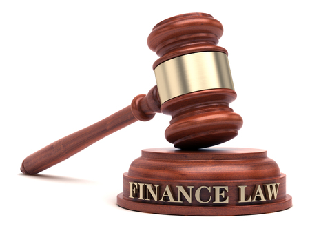 Finance Law Stock Photo