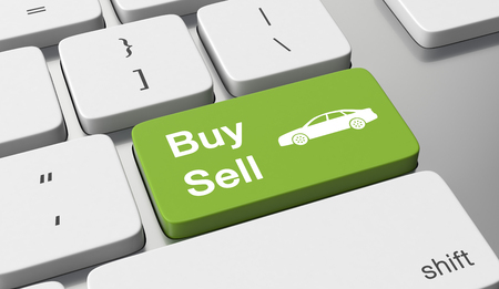 Buy or sell a car online Stock fotó