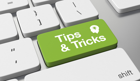 Tips & tricks text on keyboard button