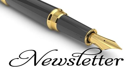 Newsletter word handwritten with fountain pen Stock Photo