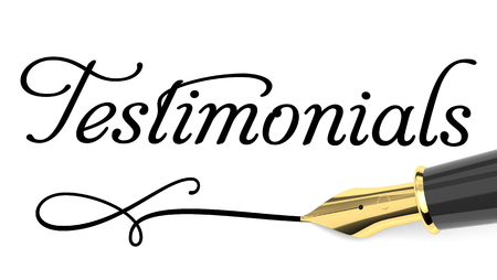 Testimonials handwritten with fountain pen