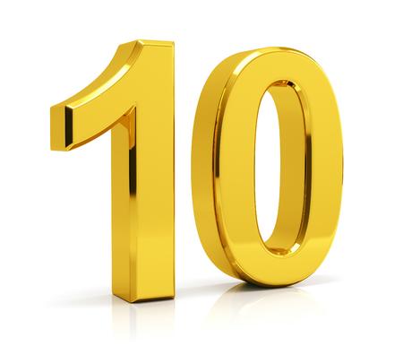 Numer 10 na białym tle