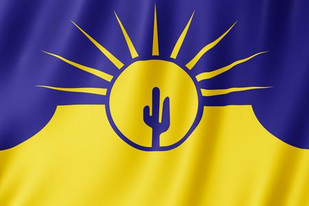 Flag of Mesa city, Arizona (US) 3d illustration