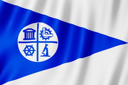 Flag of Minneapolis city, Minnesota (US) 3d illustration