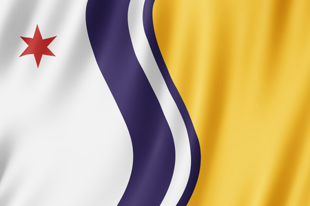 Flag of South Bend city, Indiana (US) 3d illustration Stock Photo