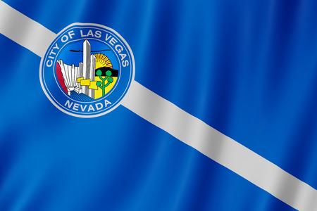 Flag of Las Vegas city, Nevada (US) 3d illustration 写真素材