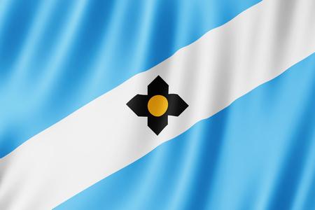 Flag of Madison city, Wisconsin (US) 3d illustration