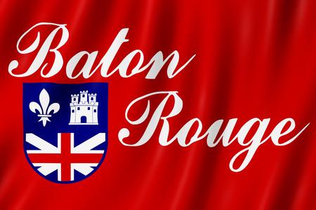 Flag of Baton Rouge city, Louisiana (US) 3d illustration Stock Photo