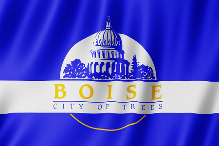 Flag of Boise city, Idaho (US) 3d illustration
