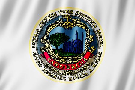 Flag of Cambridge city, Massachusetts (US) 3d illustration