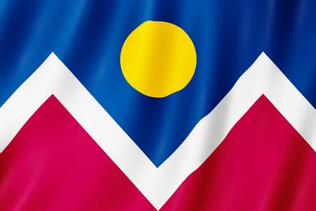 Flag of Denver city, Colorado (US) 3d illustration