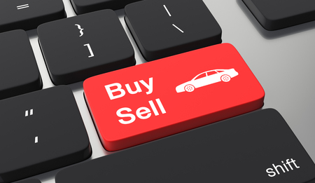 Buy sell car button on keyboard. Stockfoto