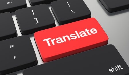 Translate button on keyboard. Stockfoto
